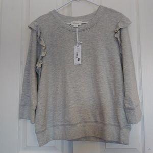 Nwt David Lerner Pullover Gray Sweatshirt